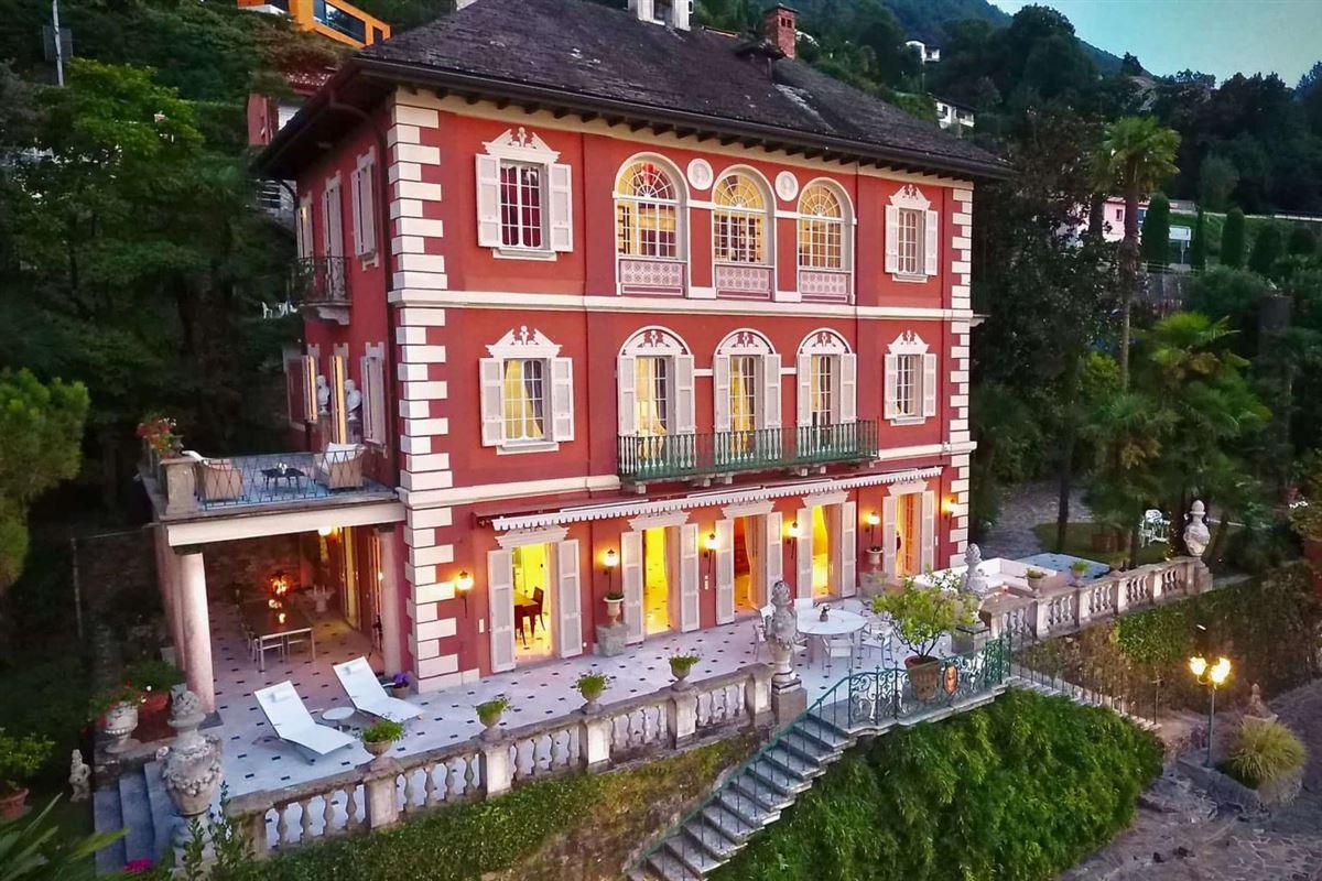 castle-like villa enjoys private lake access luxury properties