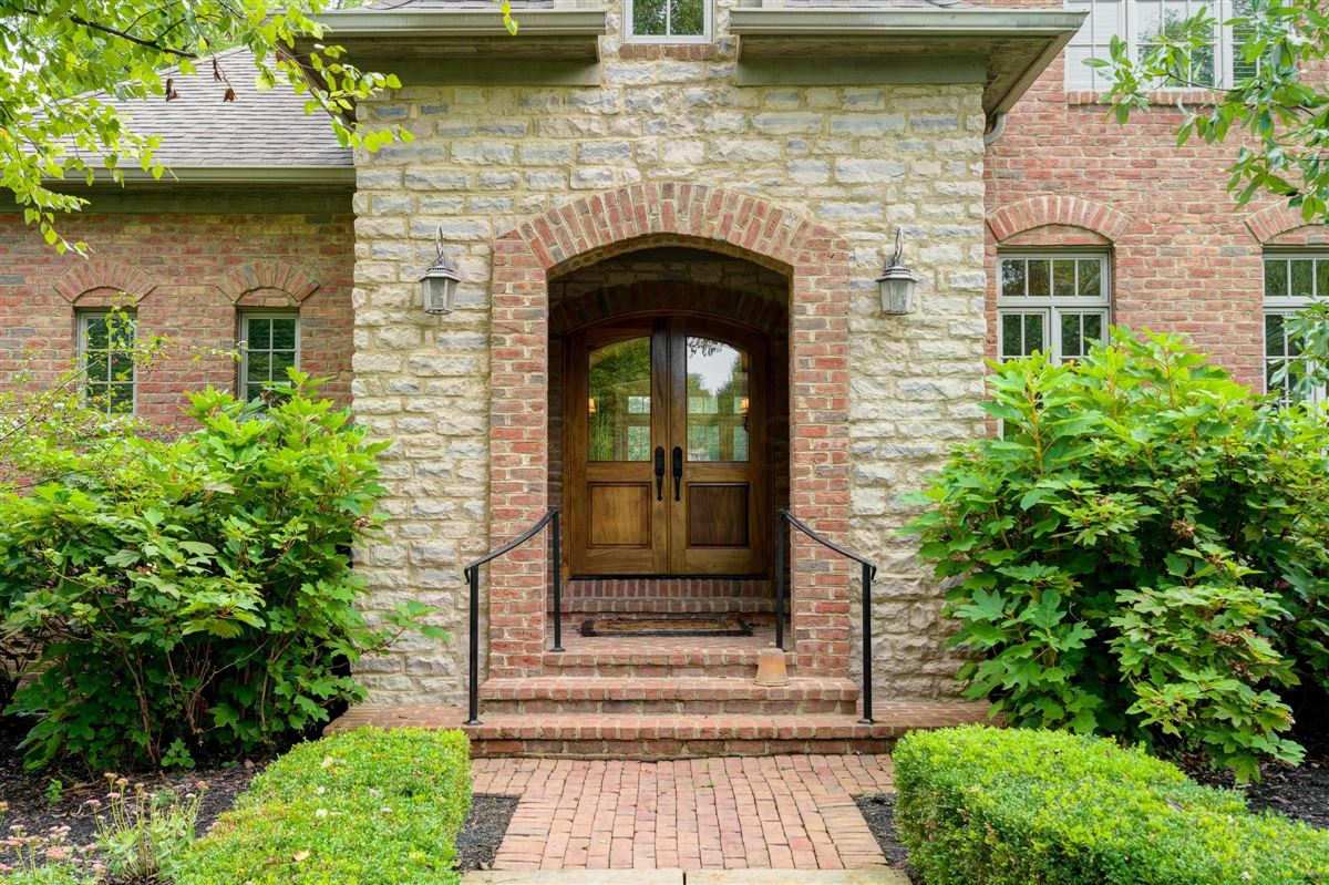 Luxury homes Brick and stone country French designed home