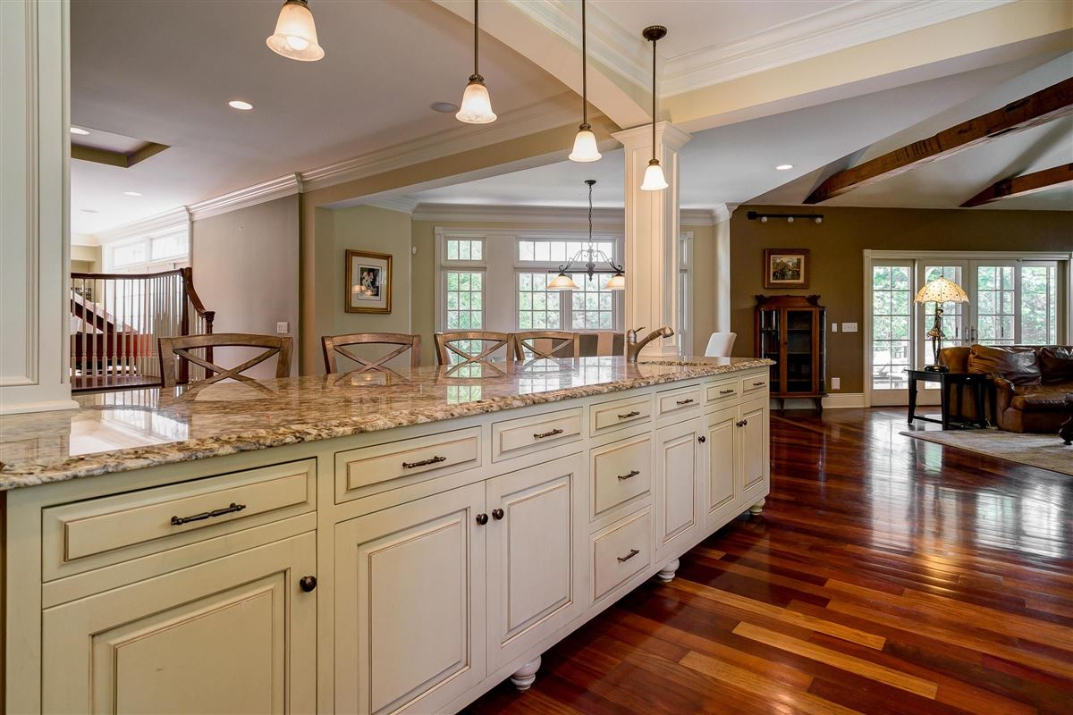 Luxury homes in Brick and stone country French designed home