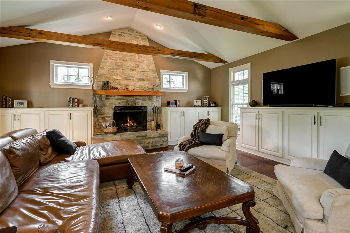 Brick and stone country French designed home luxury homes