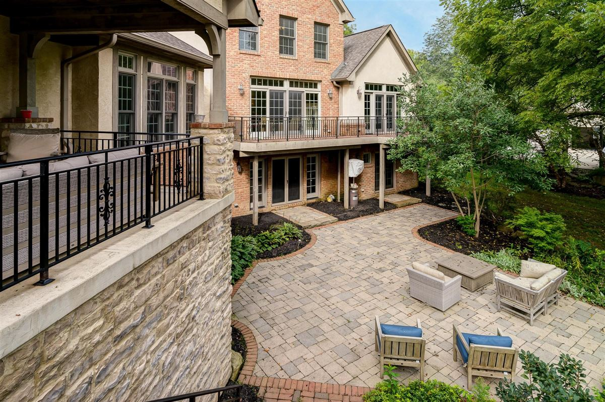 Brick and stone country French designed home luxury real estate