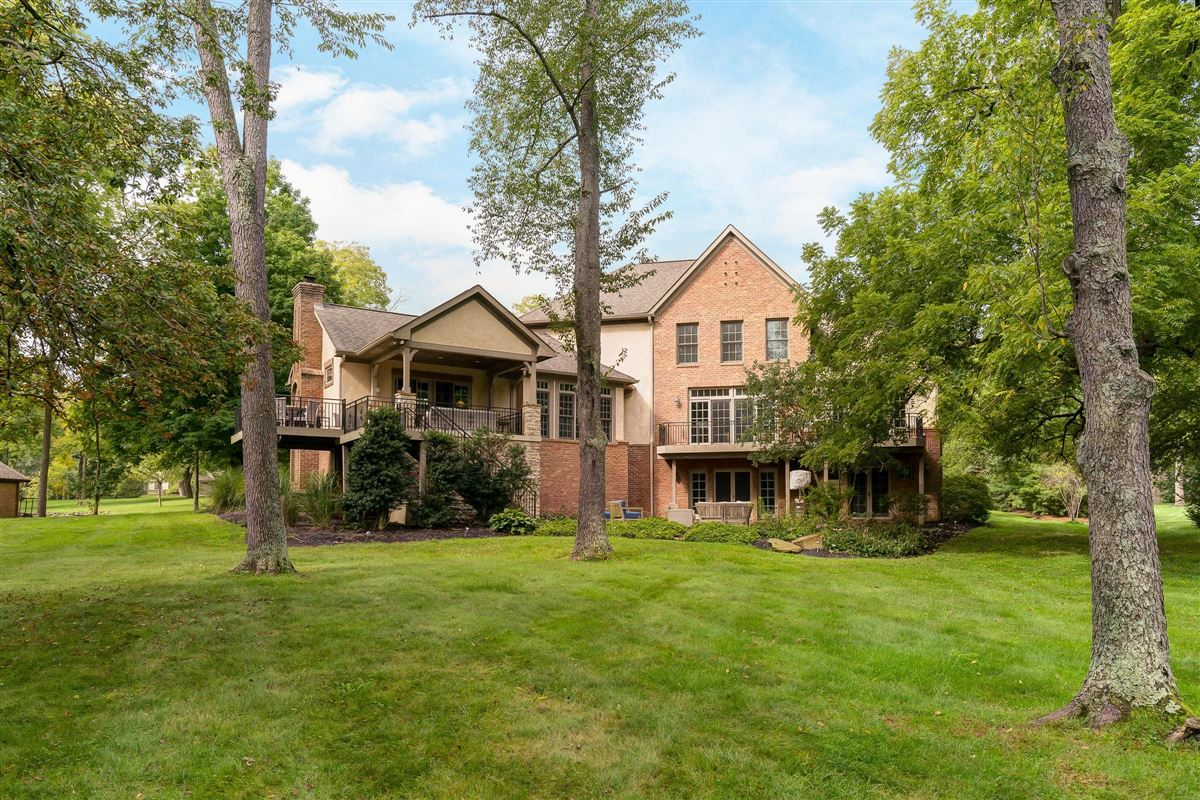 Brick and stone country French designed home luxury properties
