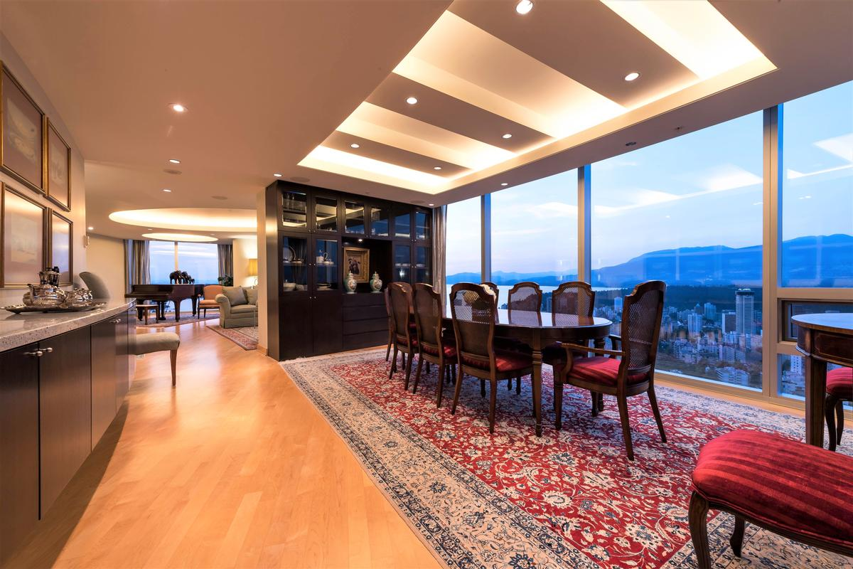 Penthouse at One Wall Centre luxury homes
