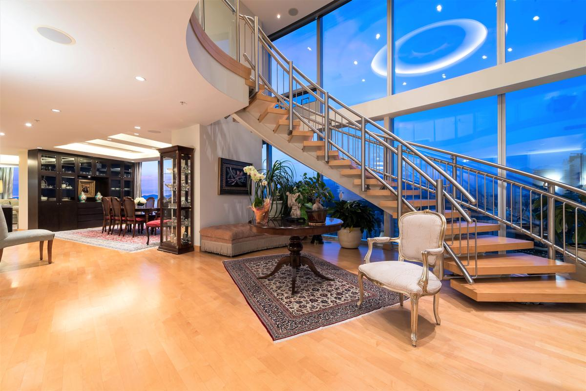 Penthouse at One Wall Centre luxury real estate