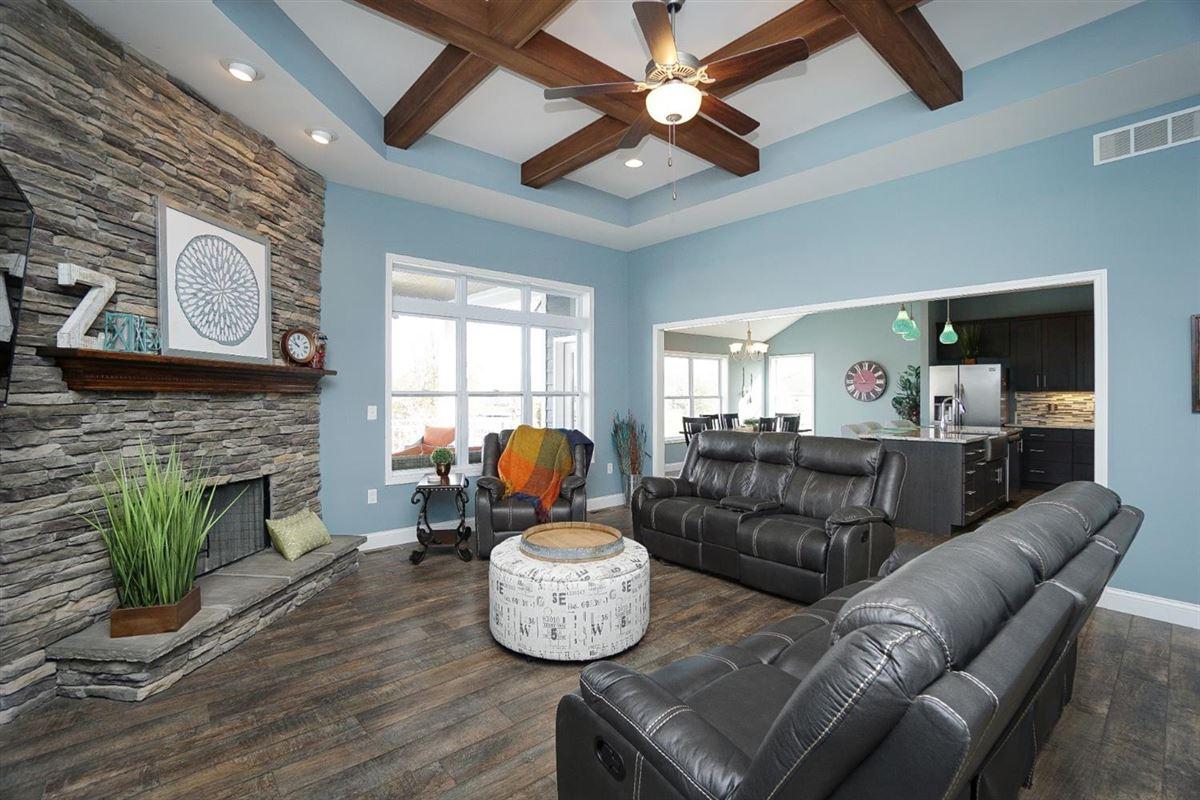 Luxury homes new six bedroom lakefront home