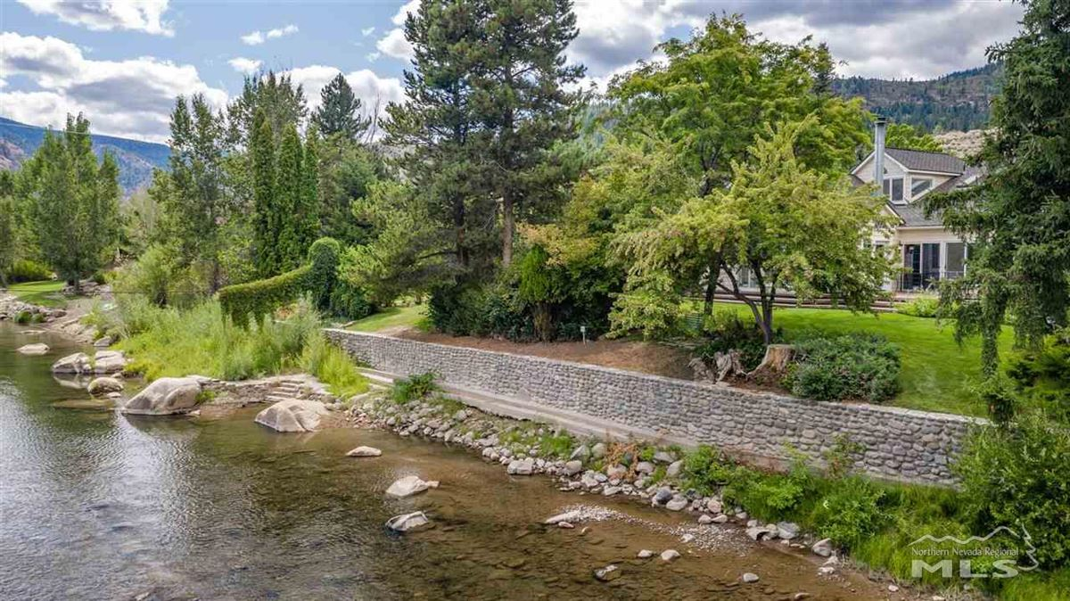 Historic, iconic home on 5 acres with 500 feet of Truckee River frontage luxury homes