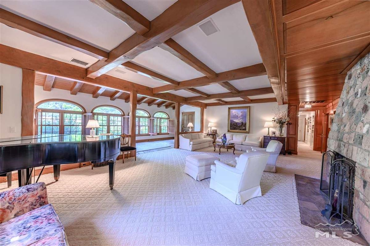 Luxury real estate Historic, iconic home on 5 acres with 500 feet of Truckee River frontage