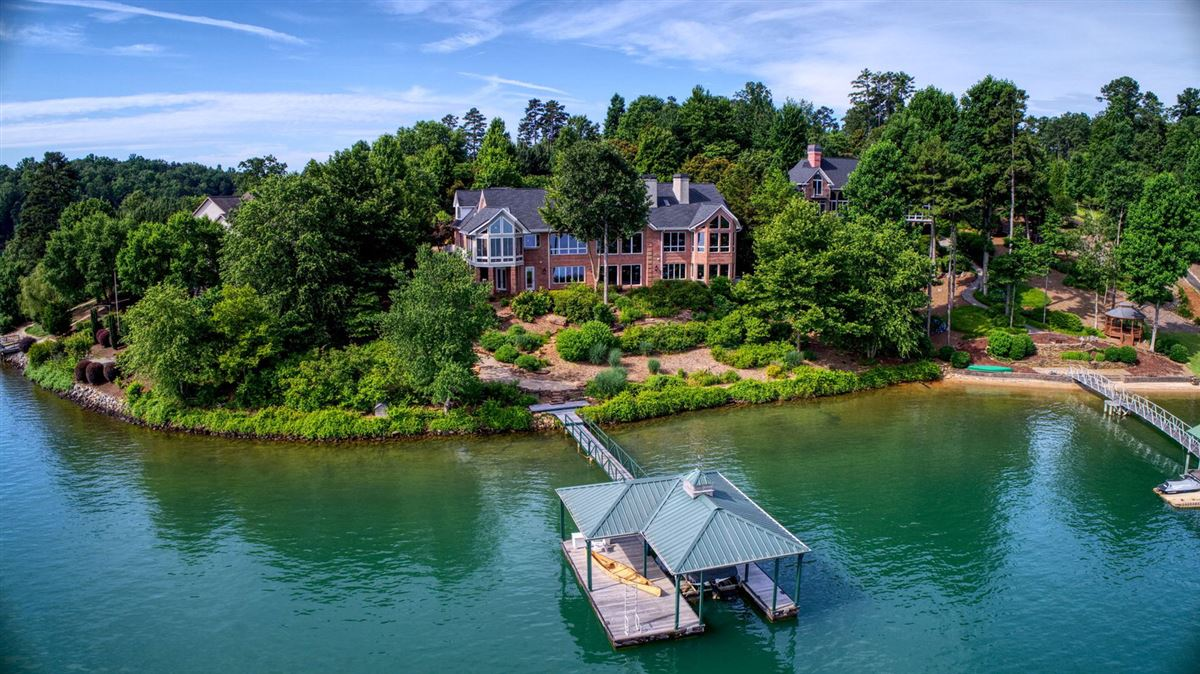 waterfront home in peaceful mountain view setting luxury real estate