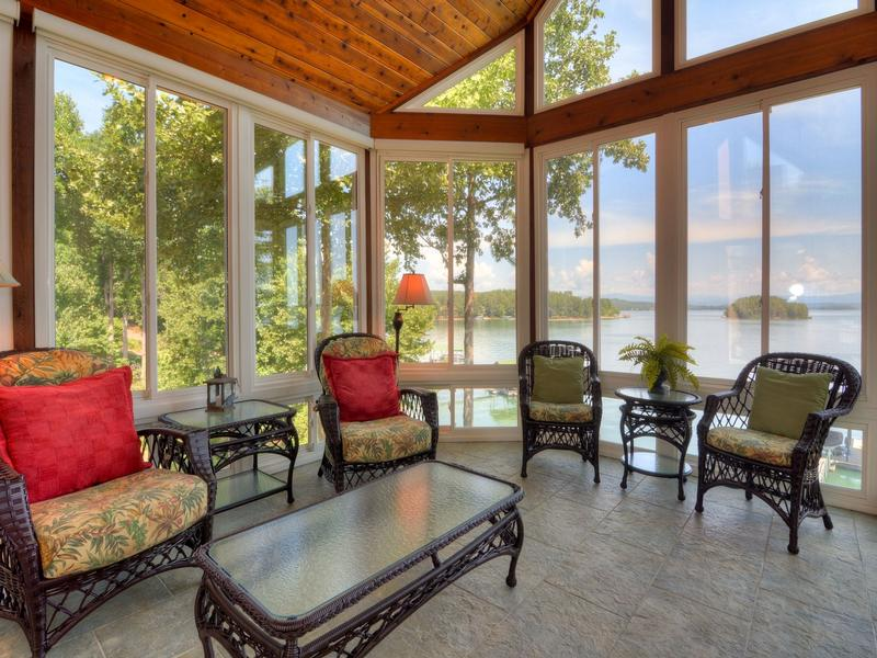 waterfront home in peaceful mountain view setting luxury homes