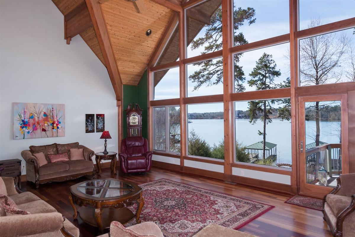Picturesque lake views  luxury homes