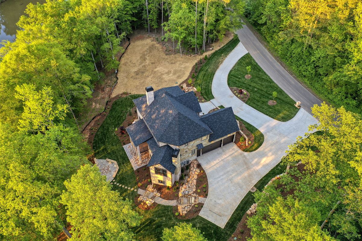 Gorgeous new limestone waterfront home luxury real estate