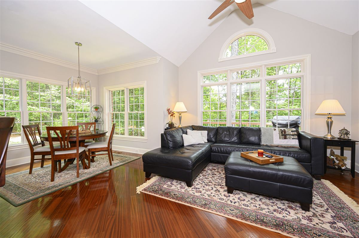Luxury properties this immaculate home is nestled in a peaceful setting with lake access
