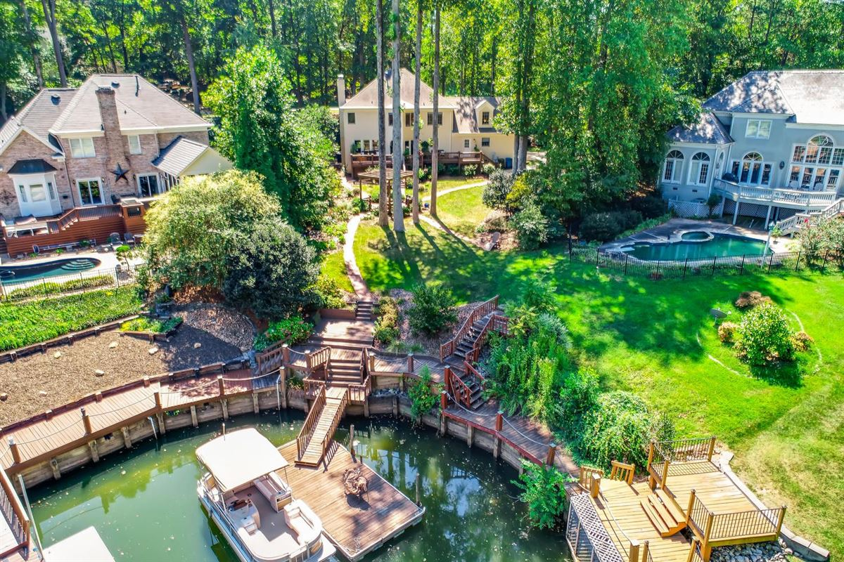 Mansions in Cornelius waterfront location