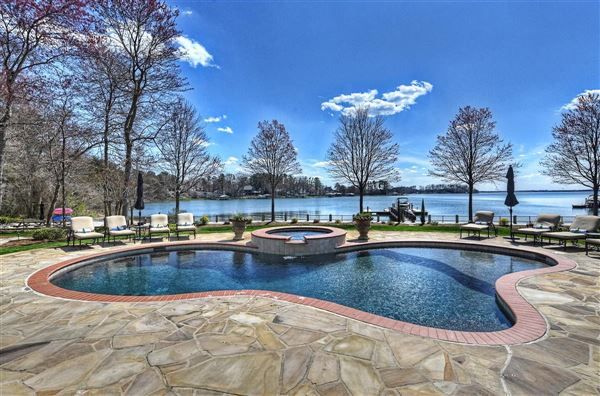 Extraordinary Waterfront Stone Estate North Carolina