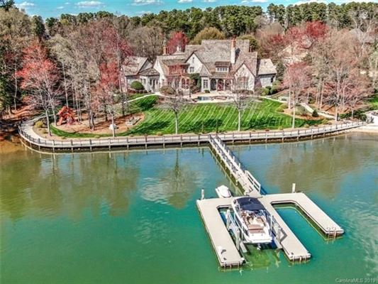 Extraordinary waterfront stone estate luxury homes