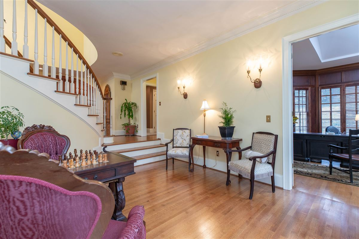 Luxury homes in One of a kind European style all brick home perfectly sited