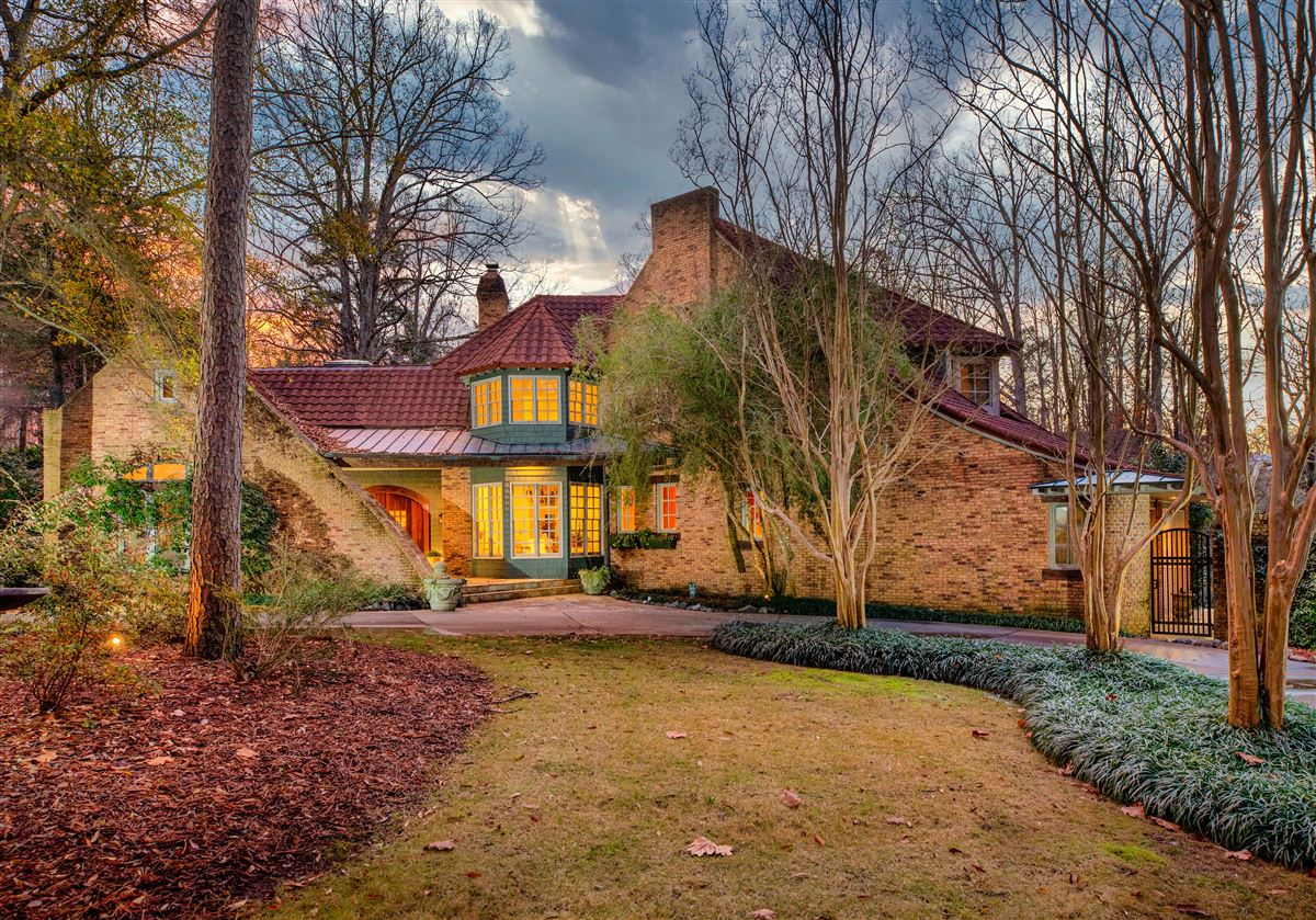 Mansions in One of a kind European style all brick home perfectly sited