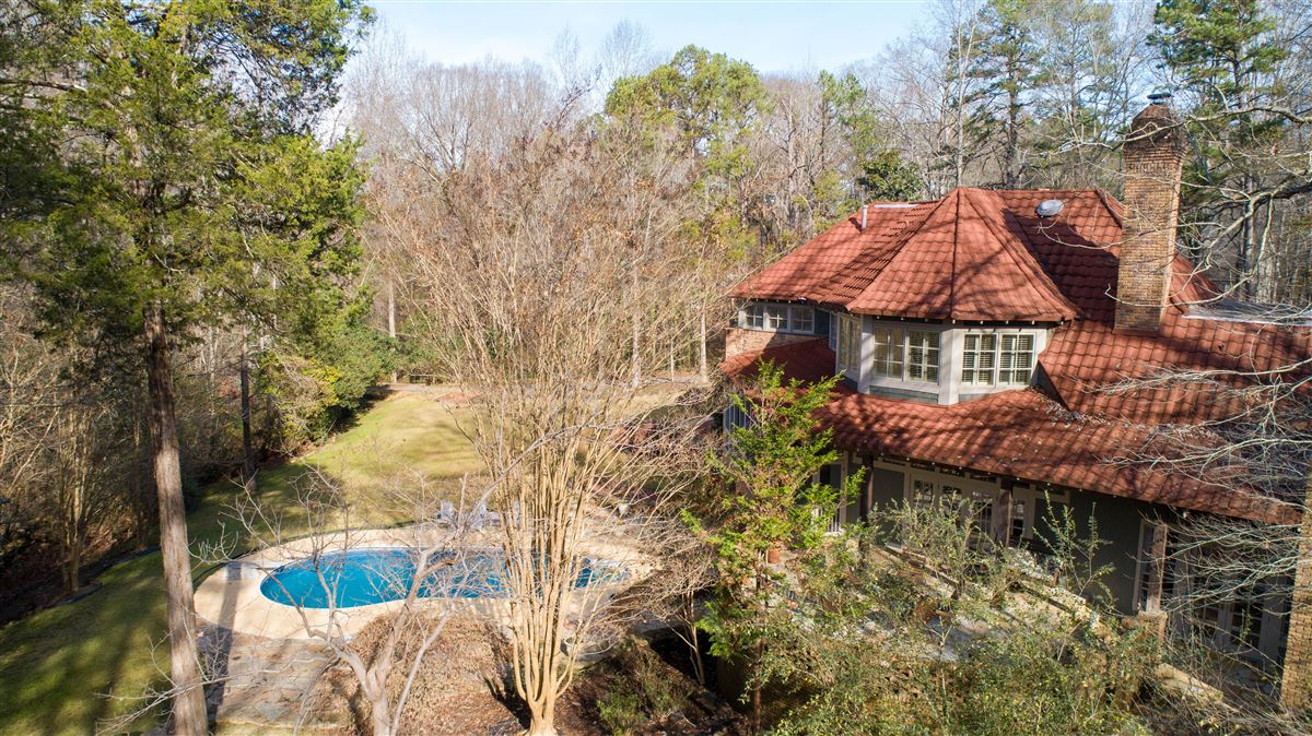 Luxury properties One of a kind European style all brick home perfectly sited