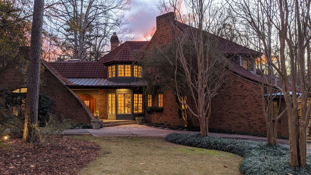 One of a kind European style all brick home perfectly sited mansions