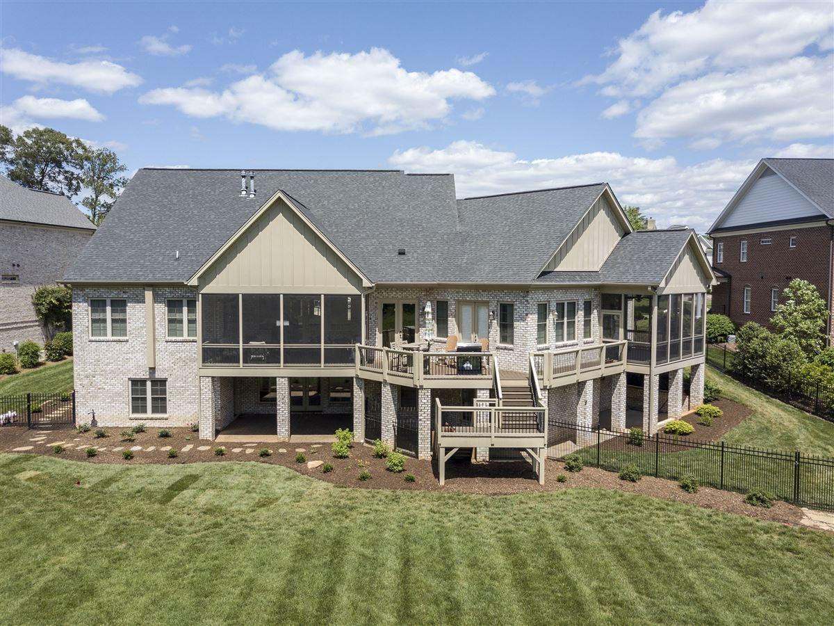 custom brick home in Brookberry Farm luxury real estate