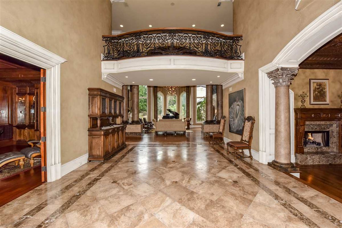 Luxury real estate spectacular mansion on picturesque grounds