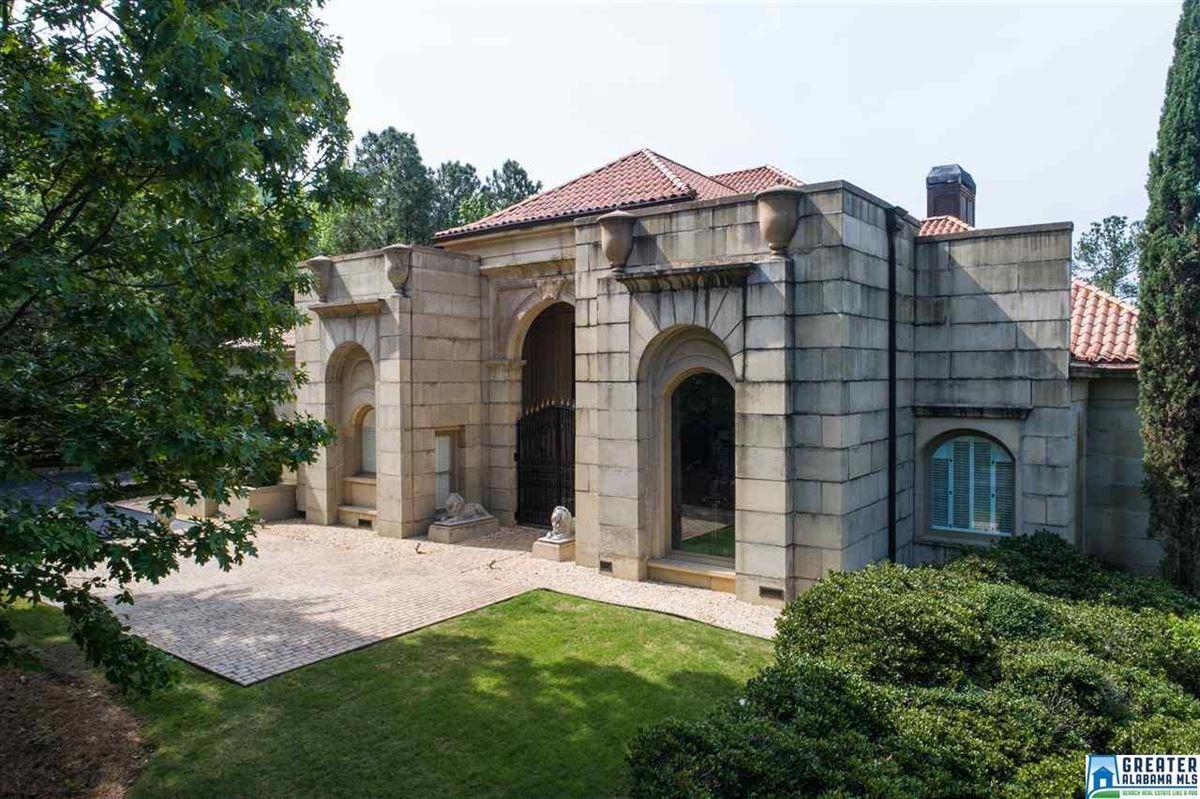 Luxury properties Mediterranean estate on four acres in hoover