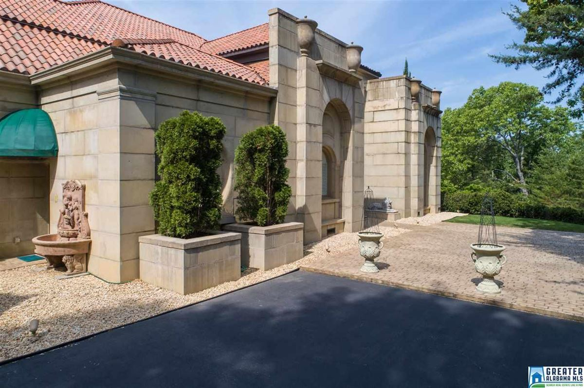 Mediterranean estate on four acres in hoover mansions
