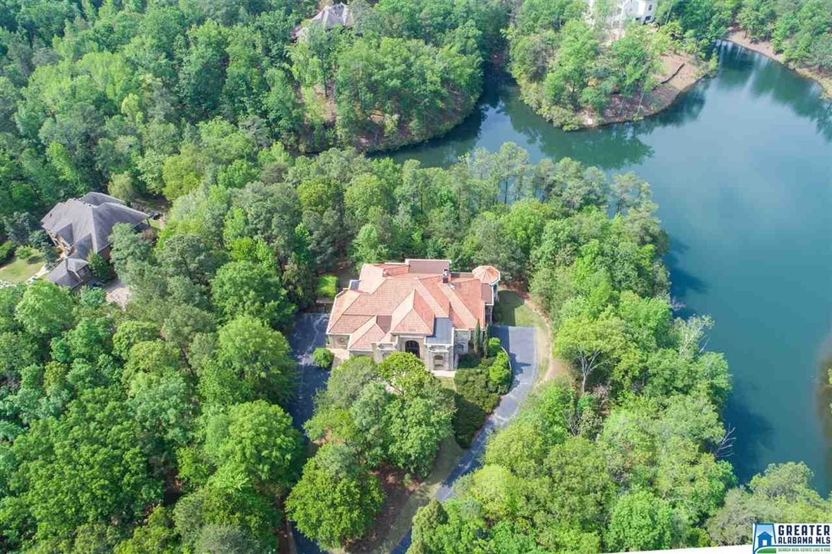 Mansions in Mediterranean estate on four acres in hoover