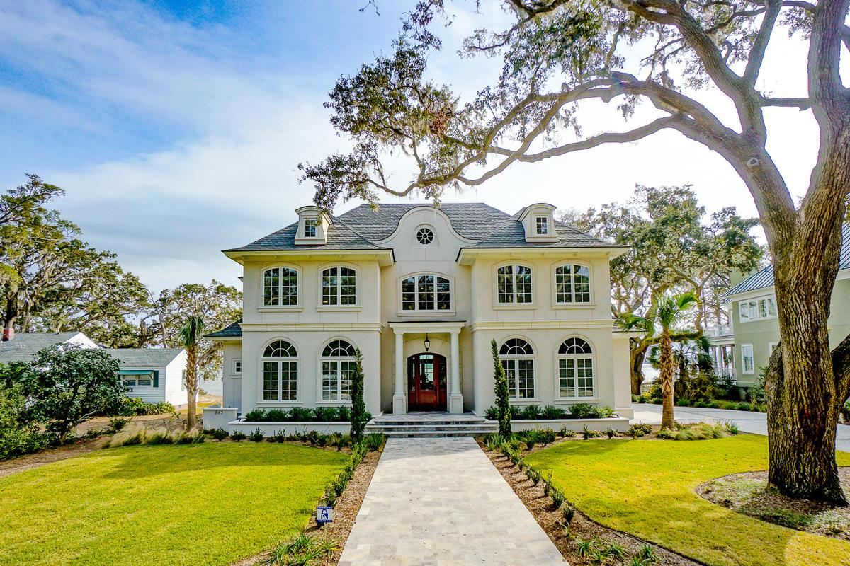 Mansions in New Custom Home Overlooking Beaufort