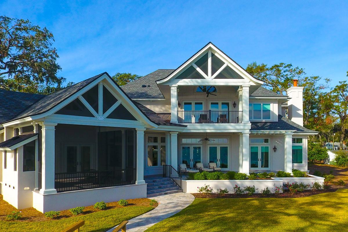 New Custom Home Overlooking Beaufort luxury real estate