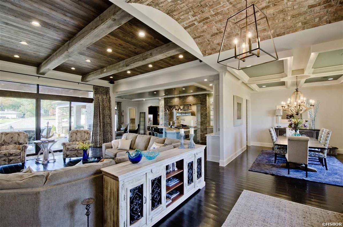 Luxury homes lovely custom home with lake hamilton frontage