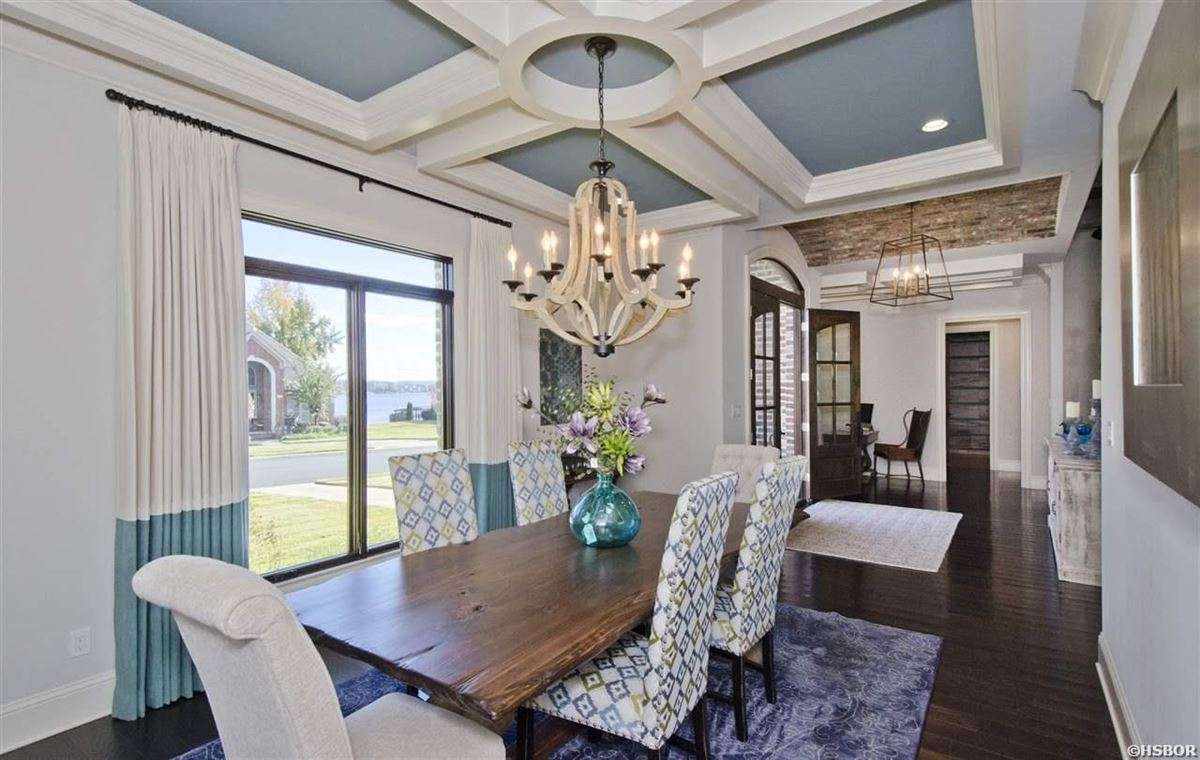 lovely custom home with lake hamilton frontage luxury homes