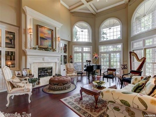 Luxury real estate elegant custom home in hot springs