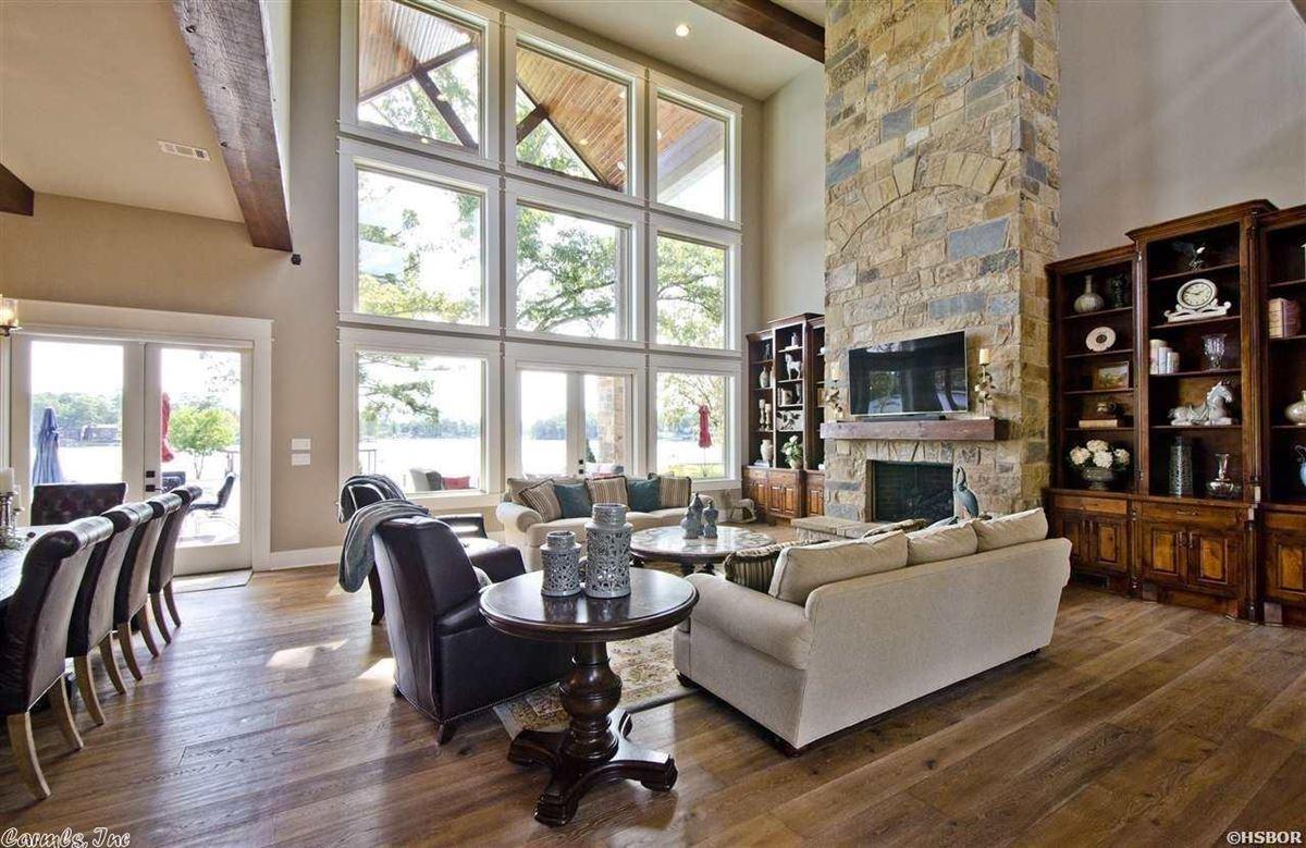 Breathtaking waterfront property on Lake Hamilton luxury homes