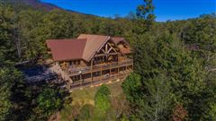 Luxury real estate Large log home with mountain views