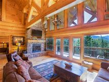 Luxury properties Large log home with mountain views