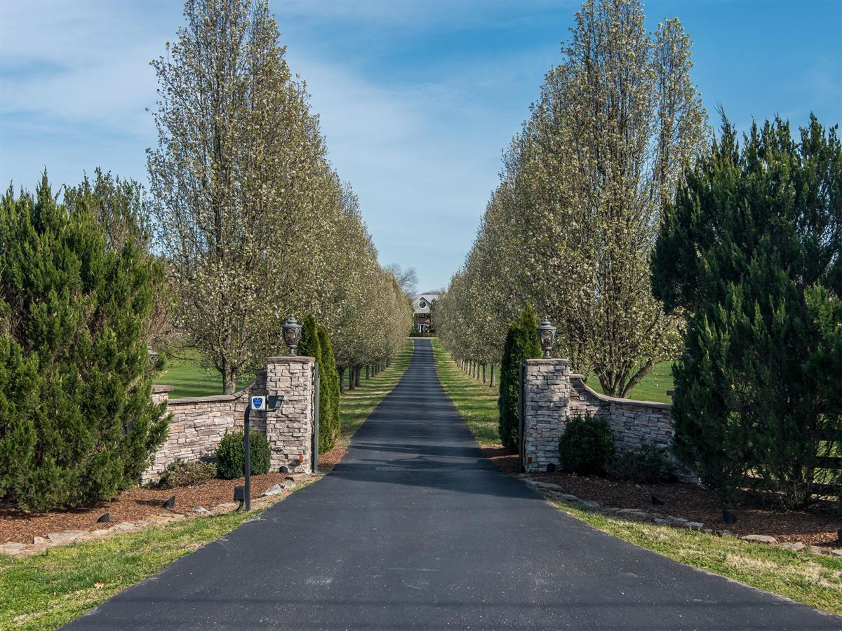 Mansions in Exceptional gated private home on 12 plus acres