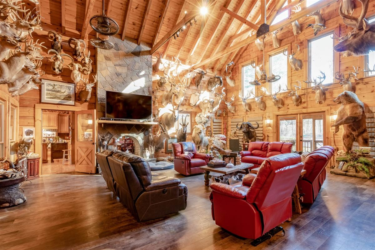 Luxury real estate Beautiful custom home on 20-plus secluded acres