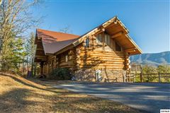 massive log home with mountain views luxury real estate
