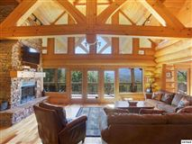 Luxury properties massive log home with mountain views