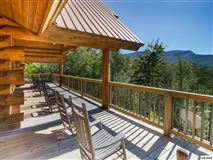 Mansions massive log home with mountain views