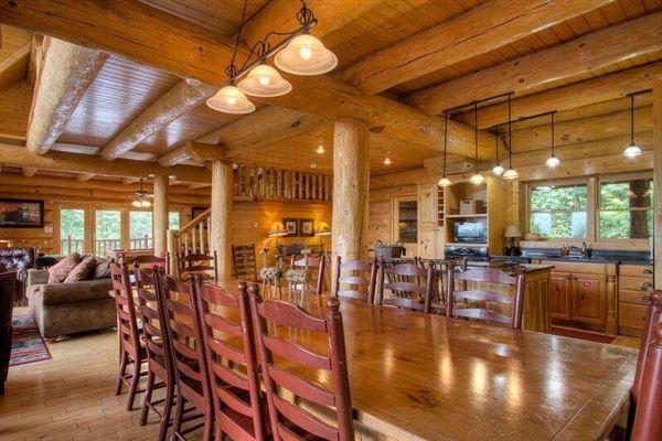 Luxury properties gorgeous luxury log homt