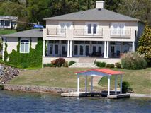 exquisite custom waterfront home in hot springs mansions