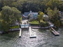 Luxury homes grand waterfront post and beam family estate