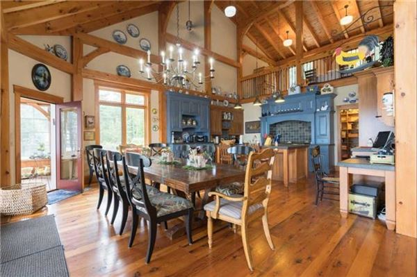 Luxury real estate grand waterfront post and beam family estate