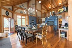 Luxury properties grand waterfront post and beam family estate