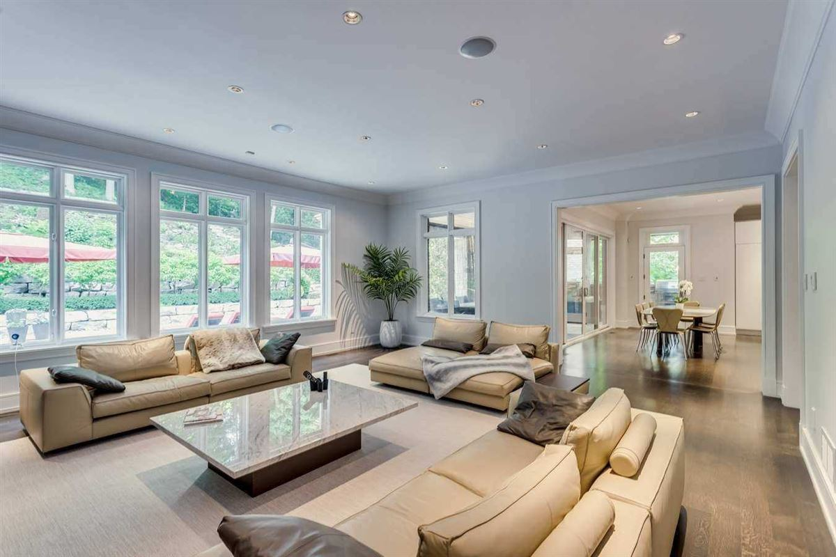 Luxury real estate stunning custom design backing to green space