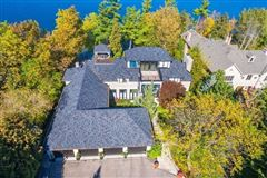 Luxury real estate elegant home on exclusive waterfront