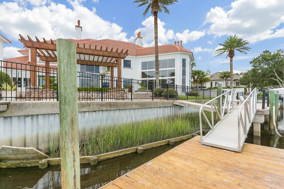 Amazing waterfront estate home with dock mansions