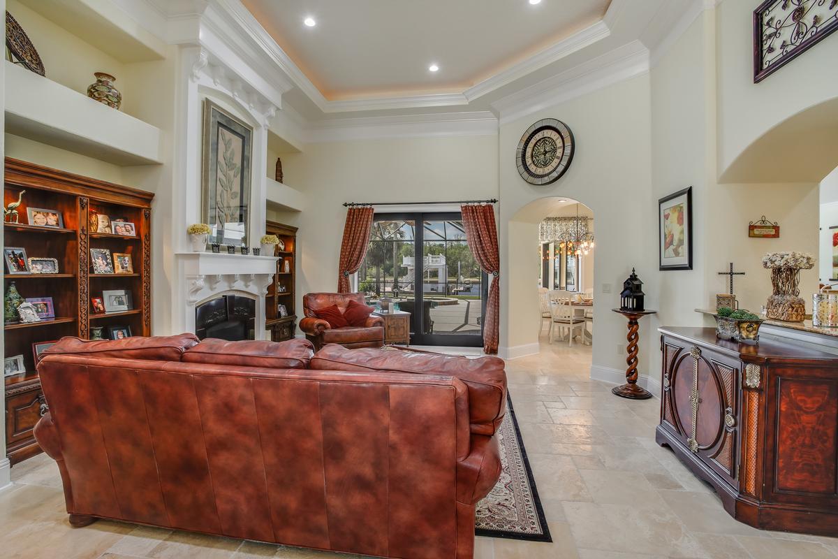 Luxury homes Stunning gated, Mediterranean custom built home